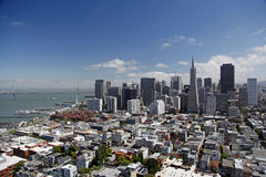 San Francisco on a sunny day Stock Images