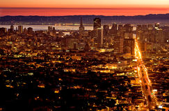 San Francisco Sunrise. Downtown San Francisco at Sunrise Royalty Free Stock Photography