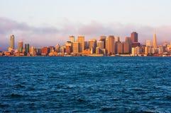 San Francisco at sunrise royalty free stock photo