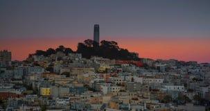 San Francisco Sunset à la nuit banque de vidéos