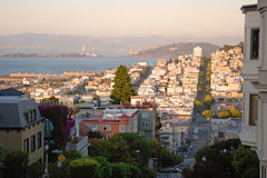 San Francisco during the sunset Stock Images