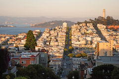 San Francisco during the sunset Stock Photography