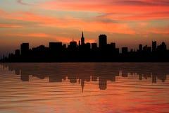 San Francisco at sunset Stock Image