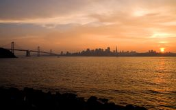 San Francisco at sunset Royalty Free Stock Photos