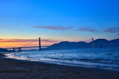 San Francisco Sunset Immagine Stock