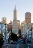 San Francisco at sunset royalty free stock photo