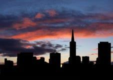 San Francisco at sunset Stock Photos