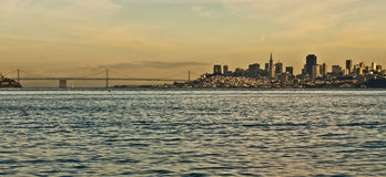 San Francisco Sunset Skyline  Royalty Free Stock Photos