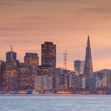San Francisco  taken from Treasure Island. Royalty Free Stock Photo