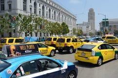 San Francisco Taxi Cab Protest Lizenzfreies Stockbild