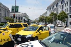 San Francisco Taxi Cab Protest Stockbilder