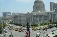 San Francisco Taxi Cab Protest Lizenzfreies Stockfoto