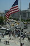 San Francisco Taxi Cab Protest Lizenzfreie Stockfotos