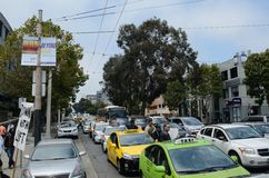 San Francisco Taxi Cab Protest Stockfotografie