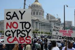 San Francisco Taxi Cab Protest Stockbild