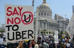 San Francisco Taxi Cab Protest royalty free stock photos