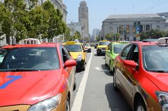San Francisco Taxi Cab Protest Royalty Free Stock Images