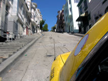 San Francisco Taxi Ride Royalty Free Stock Photography