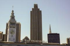 San Francisco tecken på hamnen royaltyfri foto