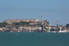 San Francisco tijdens def. van de Kop 2012 van Amerika in fron Stock Foto's