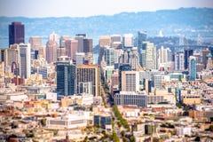 San Francisco Tilt Shift Fotografie Stock