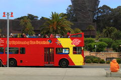 San Francisco Tour Bus Royalty Free Stock Photography