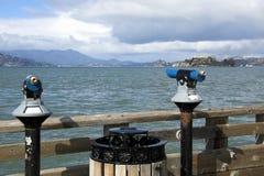 San Francisco tourist telescop stock photos