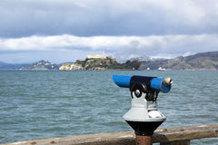 San Francisco tourist telescop Stock Photography