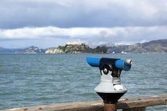 San Francisco tourist telescop stock photography