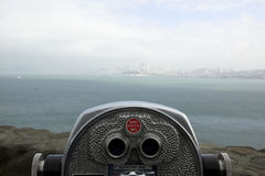 San Francisco tourist telescop Royalty Free Stock Images