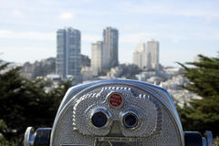 San Francisco tourist telescop Royalty Free Stock Photo