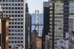 San Francisco Towers and Bay Bridge Stock Image