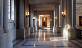 San Francisco Town Hall. Stunning hall way of  San Francisco Town Hall Stock Photos