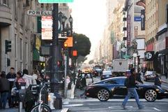 San francisco traffic. City center stock photo