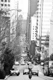 San francisco traffic. City center stock images