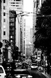 San francisco traffic. City center royalty free stock images