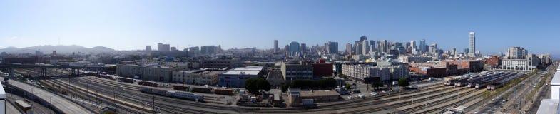 San Francisco Trainyard en koningsstraat Stock Afbeeldingen