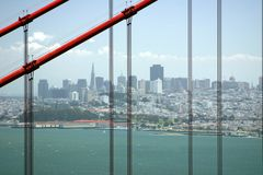 San Francisco tramite il cancello dorato Immagini Stock