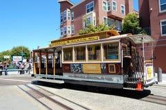 San Francisco Trolley. A San Francisco Trolley getting ready to turn around.  Taken August 2010 Royalty Free Stock Image
