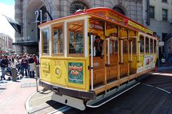 San Francisco Trolley. A San Francisco Trolley getting ready to turn around.  Taken August 2010 Royalty Free Stock Images