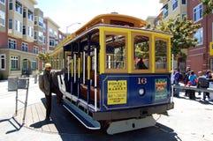 San Francisco Trolley. A San Francisco Trolley getting ready to turn around.  Taken August 2010 Royalty Free Stock Photos