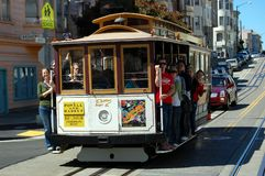 San Francisco Trolley. A San Francisco Trolley loaded with turists.  Taken August 2010 Stock Photo