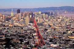 San Francisco from Twin Peaks. A shot of San Francisco downtown from Twin Peaks at dusk Stock Photography