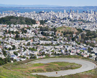 San Francisco from Twin Peaks Royalty Free Stock Photos