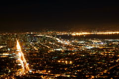 San Francisco Twin Peaks City Lights. San Francisco City Lights at twin peaks Royalty Free Stock Images