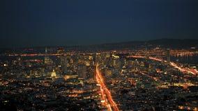 San francisco twin peaks timelapse stock video