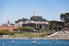 SAN FRANCISCO, U.S.A. - 17 LUGLIO 2017: La gente visita il parco acquatico dentro fotografia stock libera da diritti