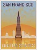 San Francisco 2 Uitstekende Affiche royalty-vrije illustratie