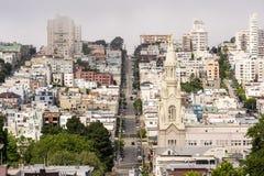 San Francisco unika gator Fotografering för Bildbyråer