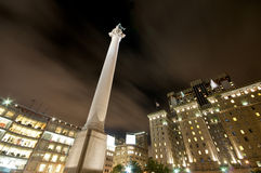 San Francisco Union Square. Nightlife and Traffic at Union Square San Francisco Stock Image